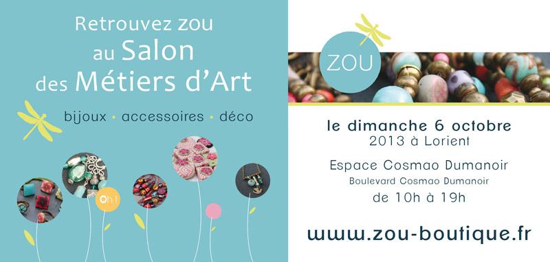 Salon des métiers d'Art ce dimanche à Lorient dans Bijoux zou-oct20131